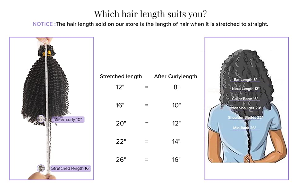 how to choose suitable afro kinky micro loop hair extesions length
