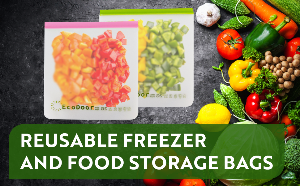 2 gallon reusable freezer and food storage bags