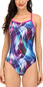 Women Printed One Piece Swimsuits