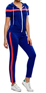 sweatsuit short sleeve long pant