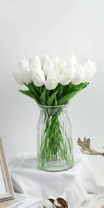 White Tulips Artificial Flowers