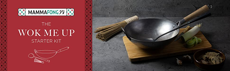 Each Mammafong® wok is uniquely crafted with passion and care.
