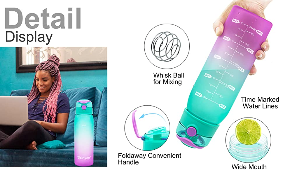 Detail Display of 30oz water bottle