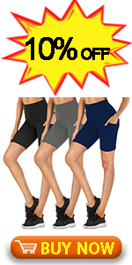 High Waisted Biker Shorts with Pockets for Women-8amp;#34; Spandex Stretchy Yoga Athletic Workout Short