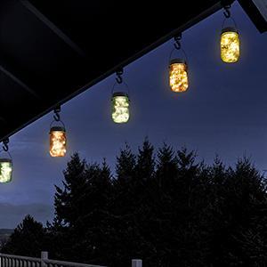 hanging solar lights outdoor