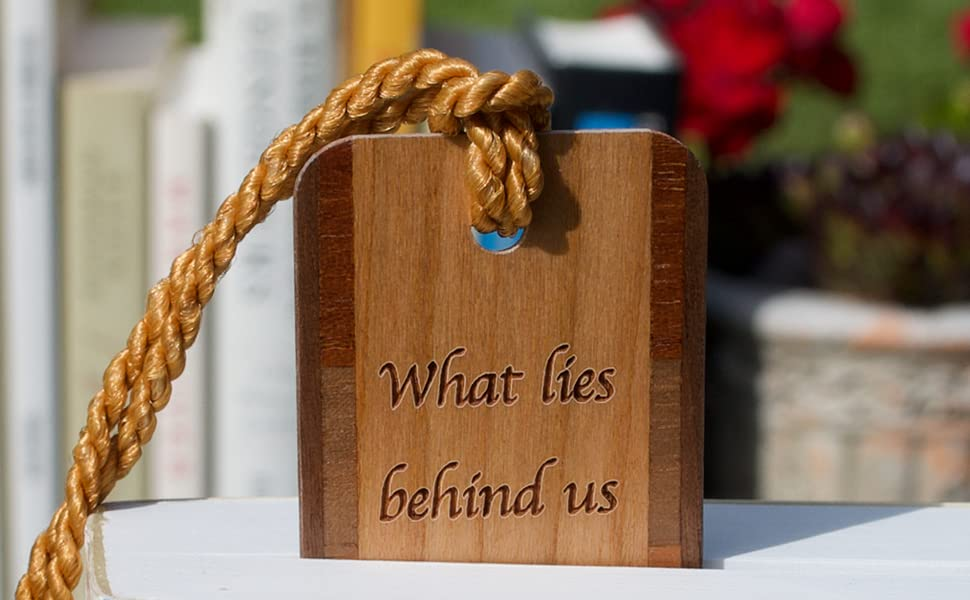Emerson Quote Wooden bookmark