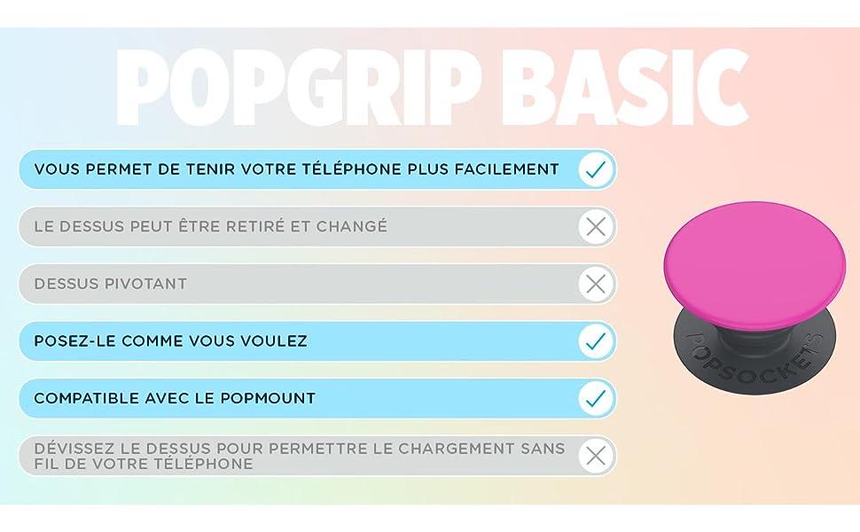 PopSockets PopGrip Basic Characteristics