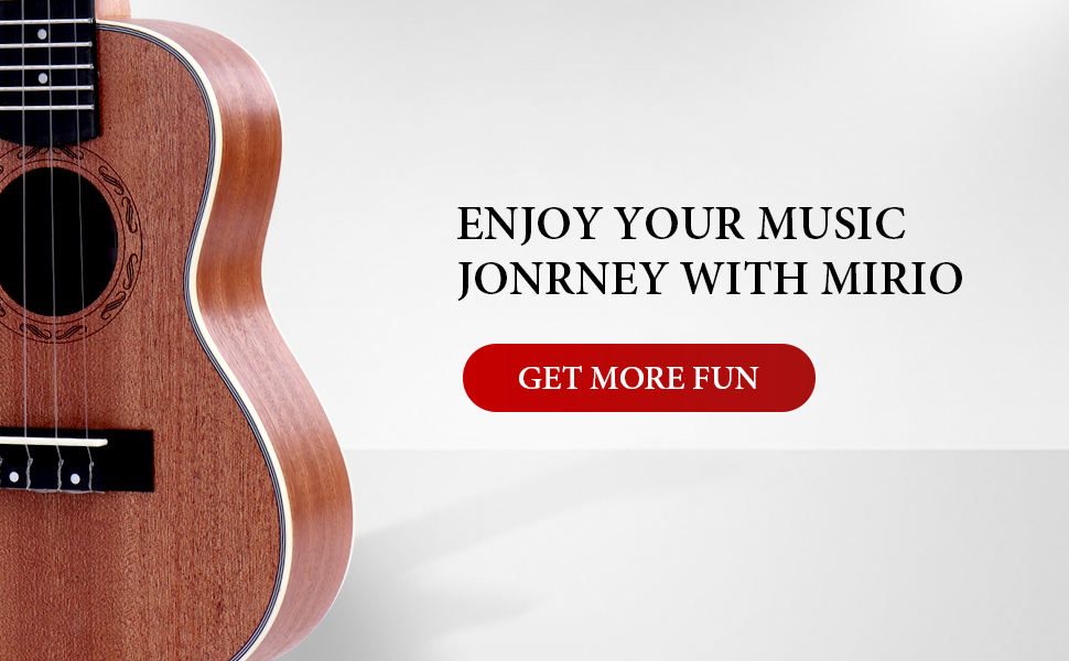 display of mirio ukulele