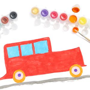 colori tempera bambino artista colorare