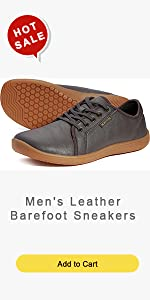 Menamp;#39;s Leather Barefoot Sneakers