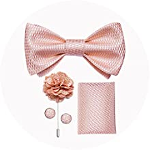 self bowtie and lapel pin set