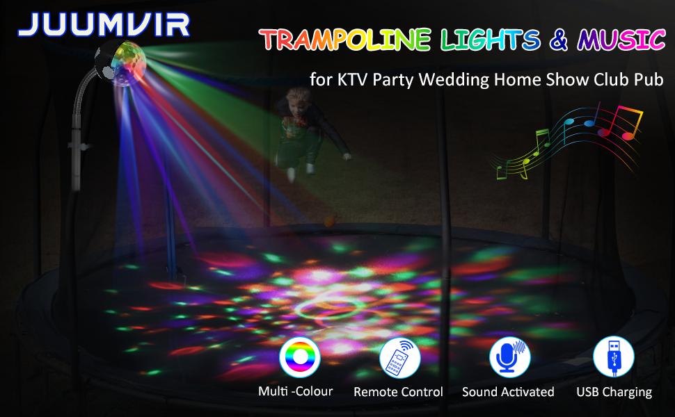 Trampoline Lights & Music