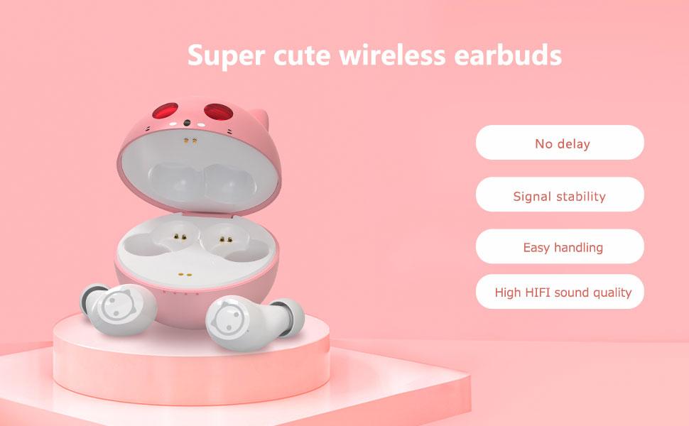 Cute wireless earbuds