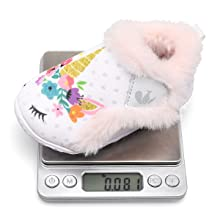JIASUQI Kids Girls Boys Warm Fur Plush Cozy House Bedroom Slippers Winter Walking Shoes