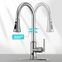 360 degree rotate kitchen faucet