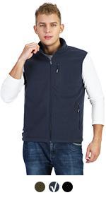 mens fleece vest