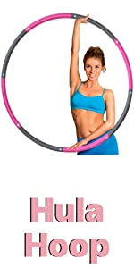 Hula Hoop for Kids and Adults - Fitness Weighted Hula Hoop Exercise
