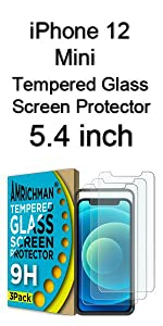 iphone 12 mini Tempered Glass Screen Protector 5.4 inch