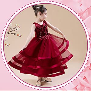 Maroon sleeveless applique floral net gown