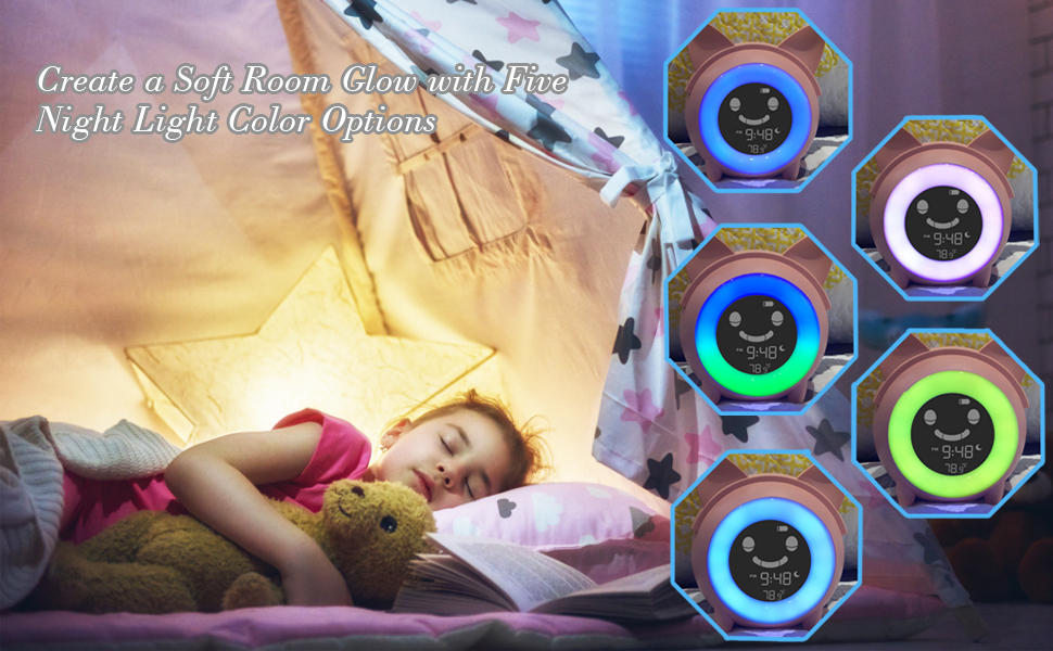Kids Alarm Clock Kids Clocks for Bedrooms toddler alarm clock ok to wake clock