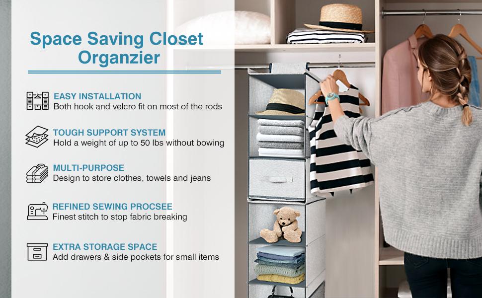Closet Hanging Shelves