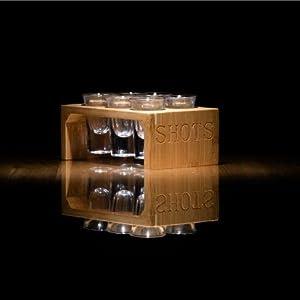 Bamboo Shot Glass Holder