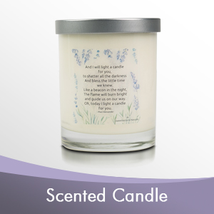Candle scented with essential oils