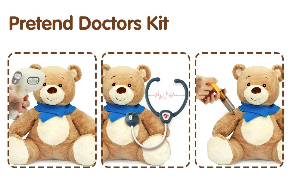 Doctor Kit for Kids Doctor Playset Play Doctor Set for Kids with Case