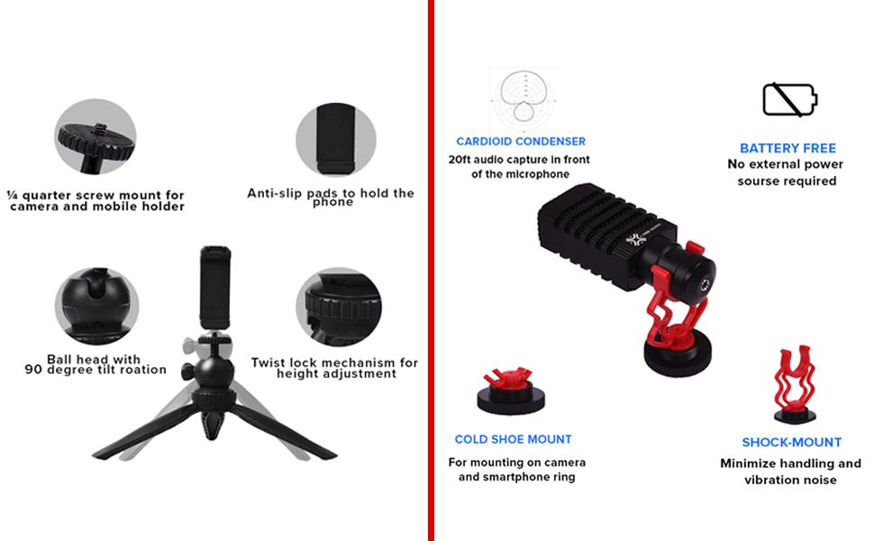 shot-gun microphone and tripod