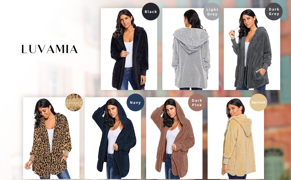 Multicolor choice for fleece pockets open fron cardigan
