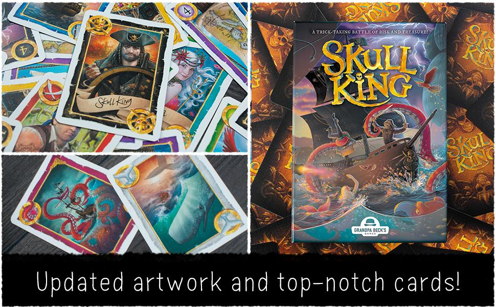 Box on cards, Skull King, Whale, Kraken