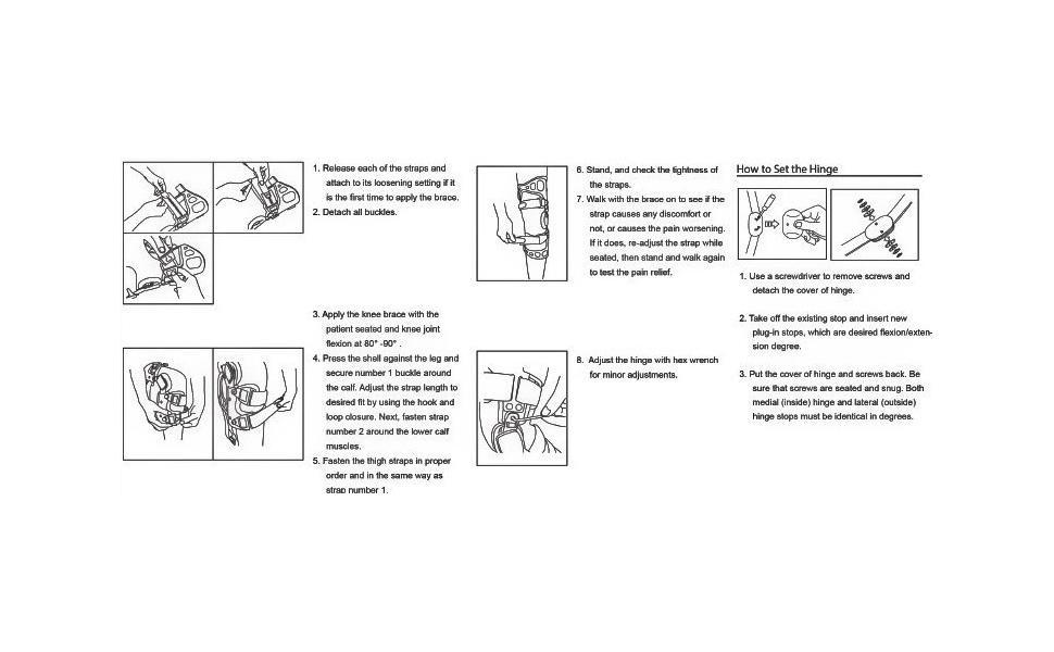 instructions medical braces OA unloader knee brace