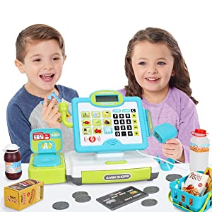 interactive cash register for boys and girls