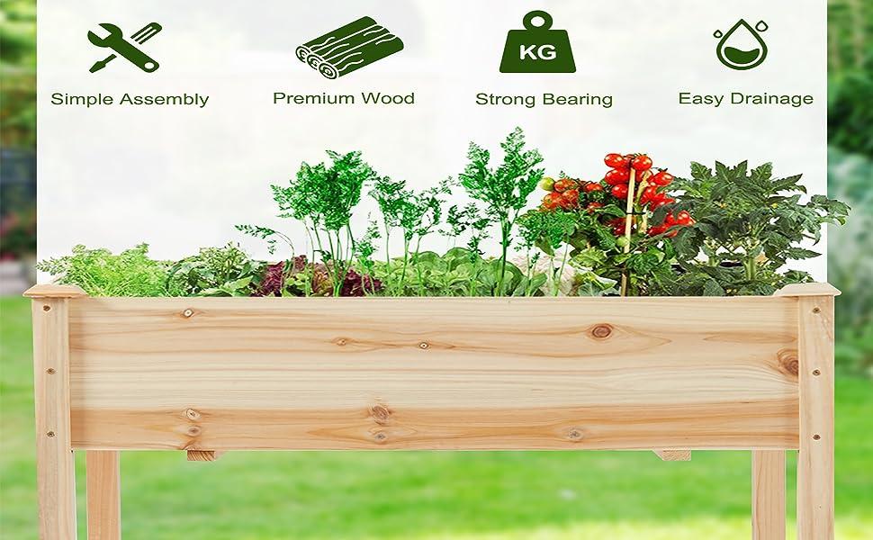 planting box for garden outdoor