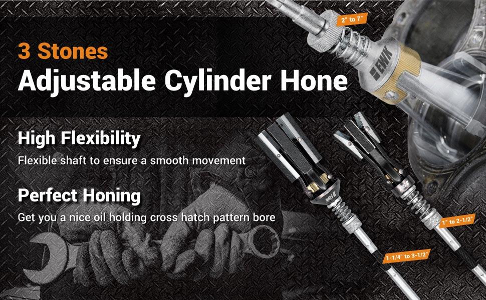 EWK 3 stones engine cylinder hone tool adjustable cylinder deglazer piston honer