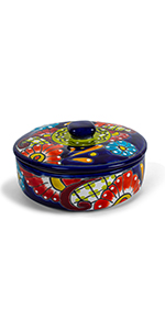 floral tortilla warmer ceramic talavera