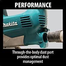 performance through the body dust port provides optimal dust management