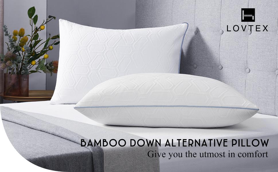 bamboo down alternative pillow