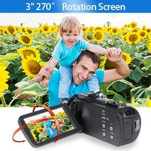 3 Inch 270 Degree Flip Screen Camera