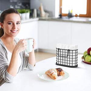 Vertical Napkin Holders Matte Black kitchen table