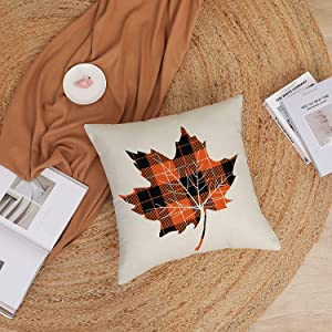 maple leafe pillow covers 18x 18