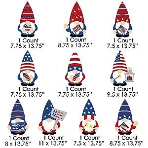 American Flag Gnome Decoration Yard Signs