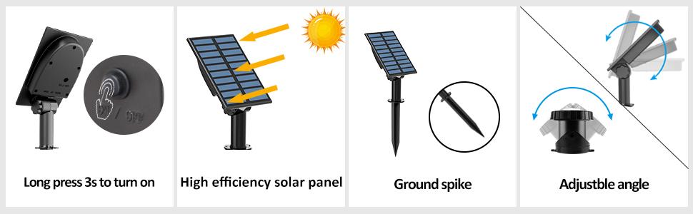 detail for solar pond light