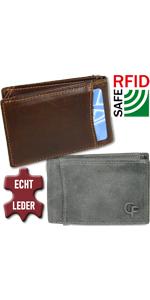 kleine mini geldbörse geldbeutel für Herren Portmonee Männer Portemonnaie extra slim
