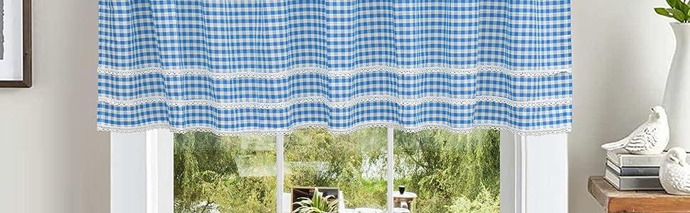 Modern short curtains