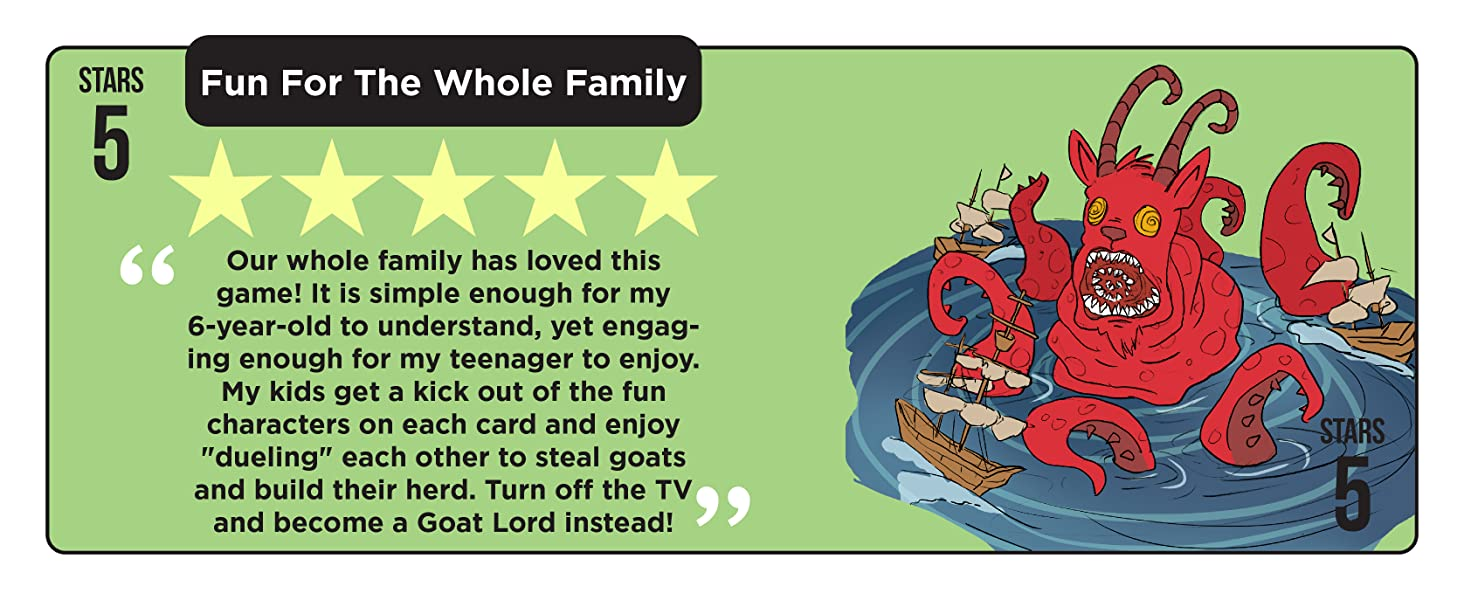 Goat Lords strategy card games board games for teens new games games for adults 2 player goat toys