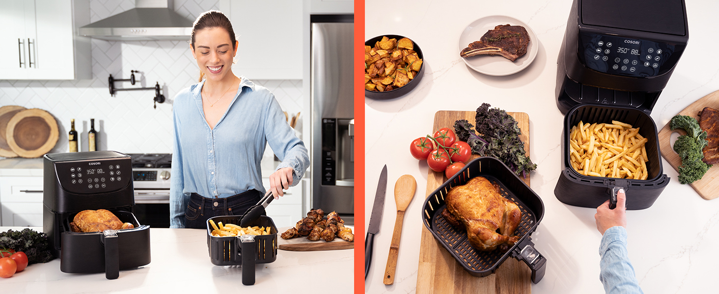 frying two types of food back-to-back won't affect their taste