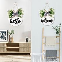 hello welcome door sign