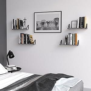 bedside shelf bookshelf bedroom shelf book shelf floating shelves for wall figurines alarm clock
