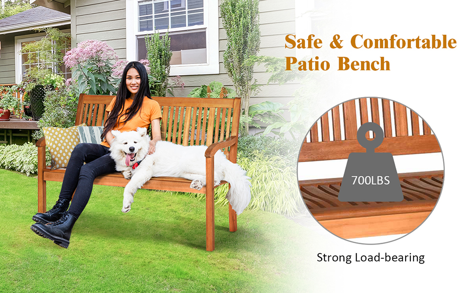 wood bench for balcony